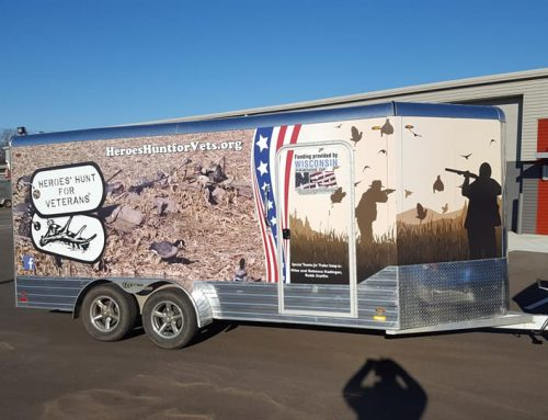 New graphics on HHV Waterfowl trailer!