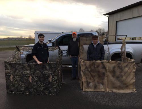 High school class donates blinds